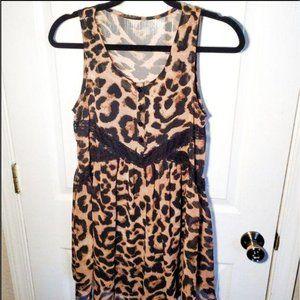Express Leopard Print Cocktail Sleeveless Dress  S